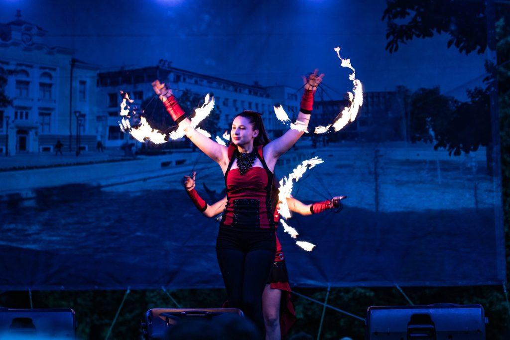 огнено шоу на празника на града
