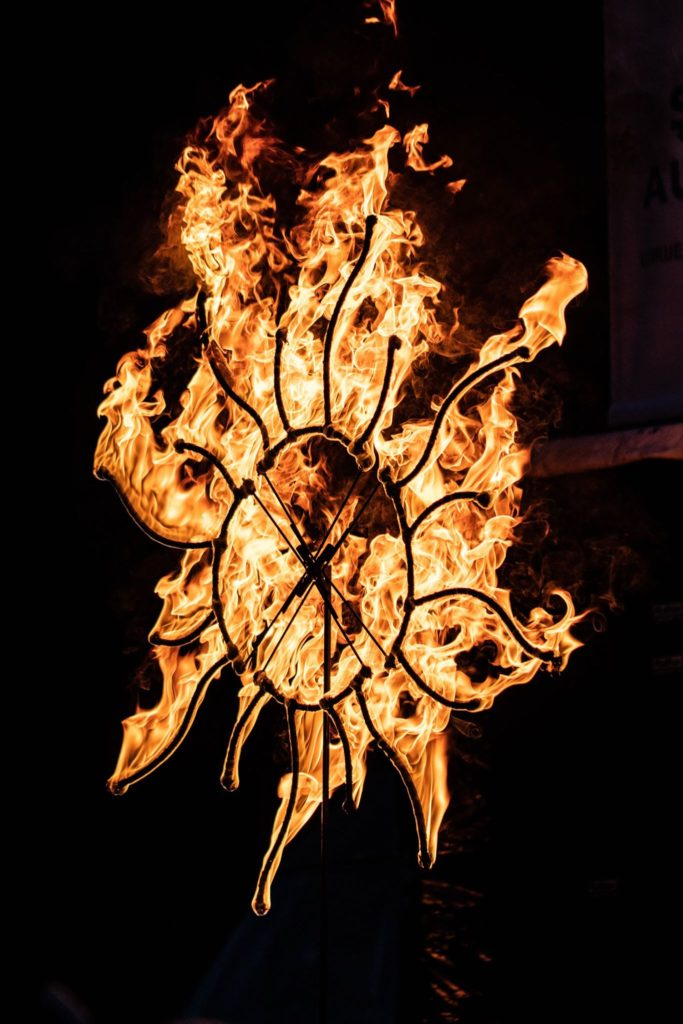 огнено представление за празник на град