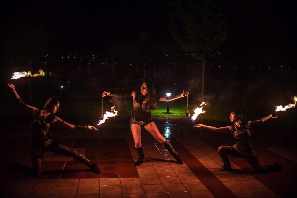 хореографии с огън