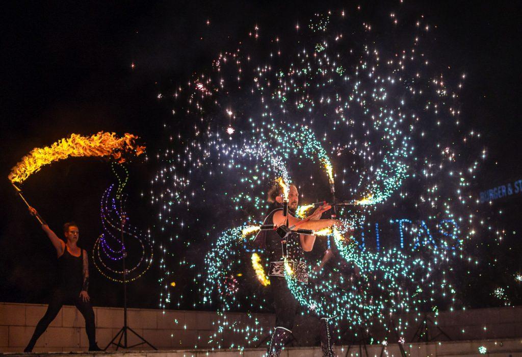 огнено шоу
