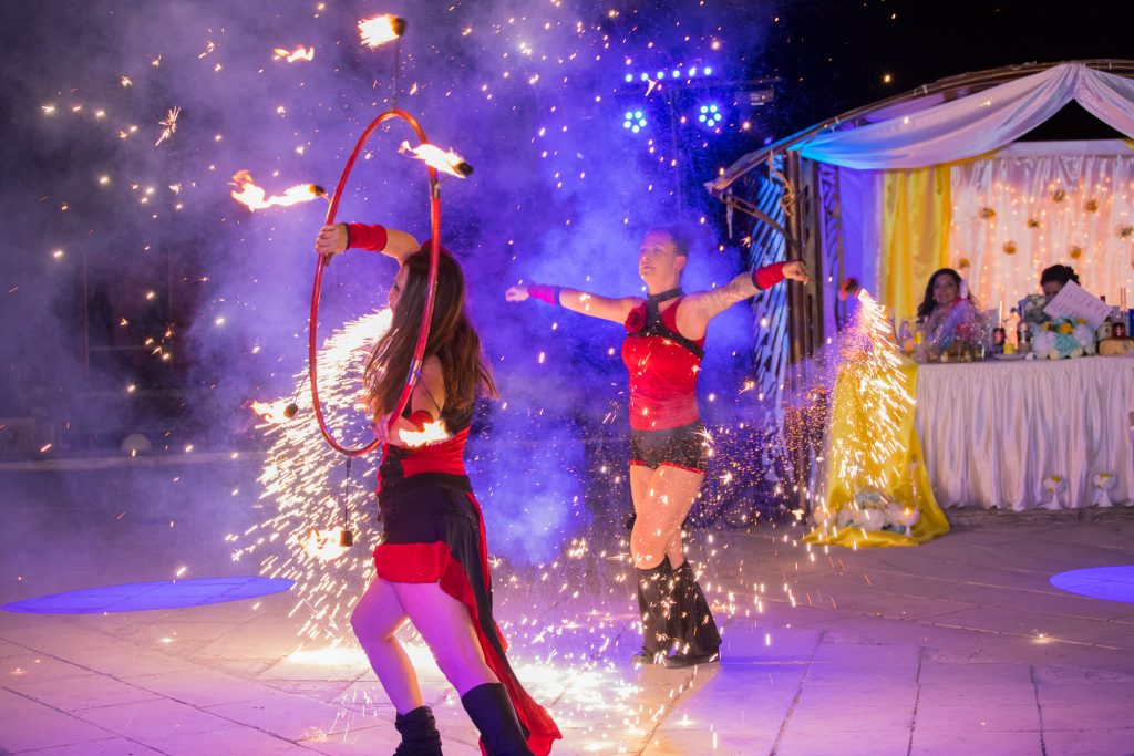 Огнено шоу Враца комплекс средновековие