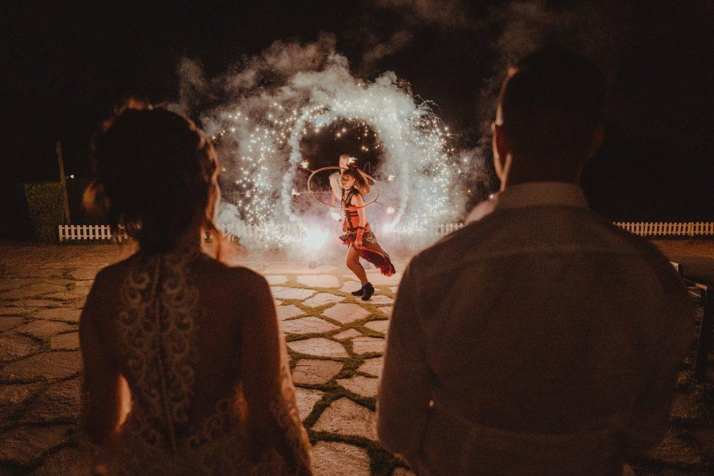 Огнено шоу Дивинитас в Голф Клуб Света София